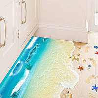 """Интерьерная виниловая 3D наклейка на пол """"Пляж"""", фото 1"""