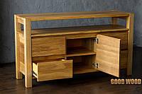 Комод деревянный Км-3, ясень или дуб, (Ш1600*В820*Г450)
