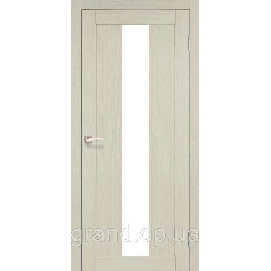 Двери межкомнатные  Корфад PORTO Модель: PR-10 дуб беленый с матовым стеклом