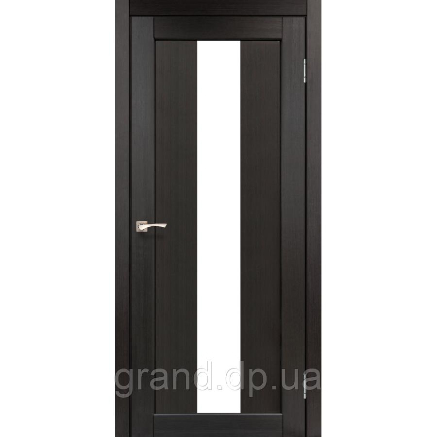 Двери межкомнатные  Корфад PORTO Модель: PR-10 венге с матовым стеклом