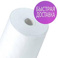 Одноразовые простыни в рулонах по 60см*100 метров (20 г/м2) Спанбонд белые