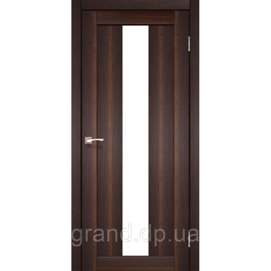 Двери межкомнатные  Корфад PORTO Модель: PR-10 орех с матовым стеклом