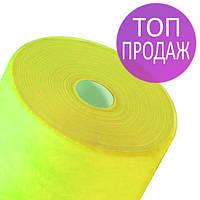 Одноразовые простыни в рулонах 0,8х100 метров 20 г/м2, медицинские,расходные материалы, желтые