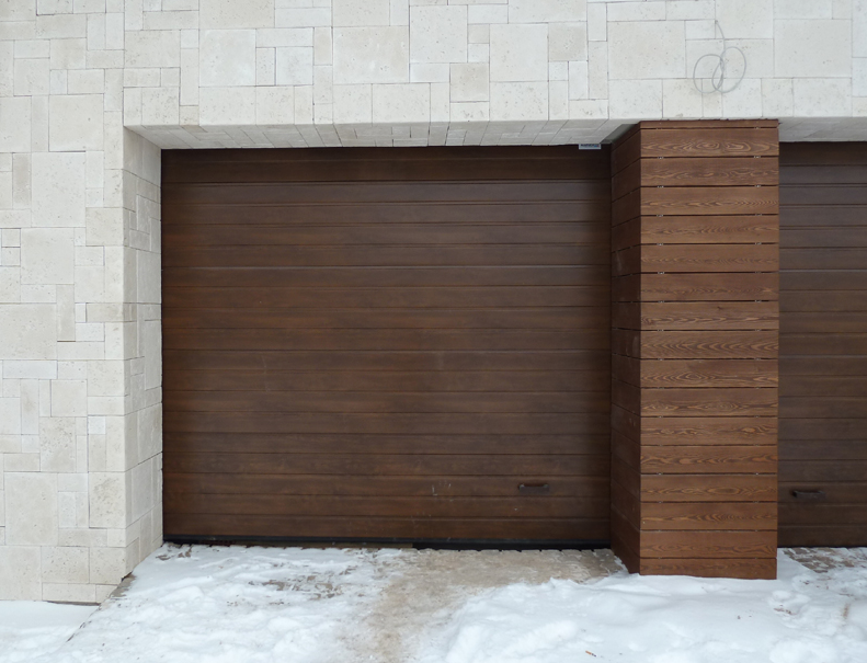 Секционные гаражные ворота алютекс trend 4500 ш 2125 в