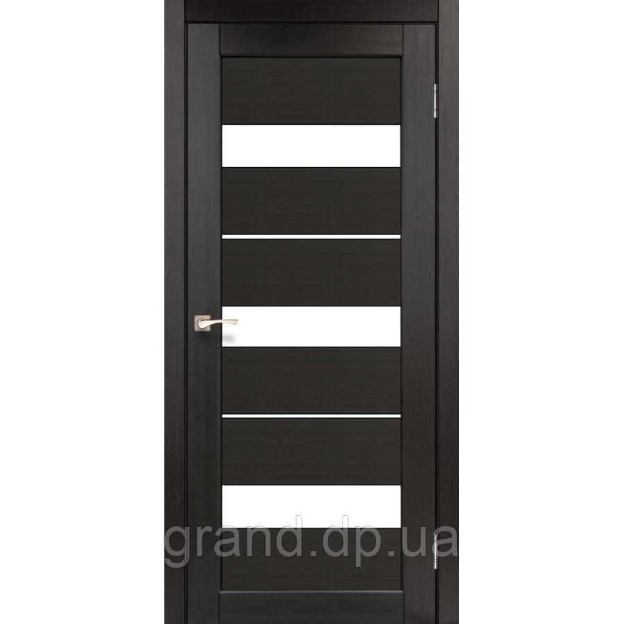 Двери межкомнатные  Корфад PORTO Модель: PR-12 венге с матовым стеклом