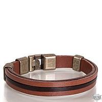 Кожаный стильный коричневый женский браслет DERI BILEKLIK