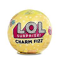 L.O.L Растворимый в воде шарик с очаровательным брелком Surprise! Charm Fizz Surprise Pack Bath Fizz, фото 1