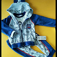 Спортивный велюровый костюм 80-86см