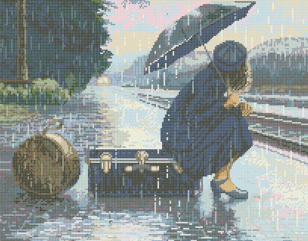 Схема для вишивки та вишивання бісером Бисерок «Погана погода»» (40x45) (ЧВ-6056 (10))