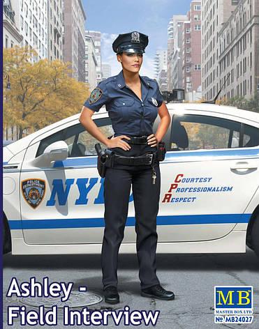 Фигура американского полицейского в масштабе 1/24. MASTER BOX 24027, фото 2