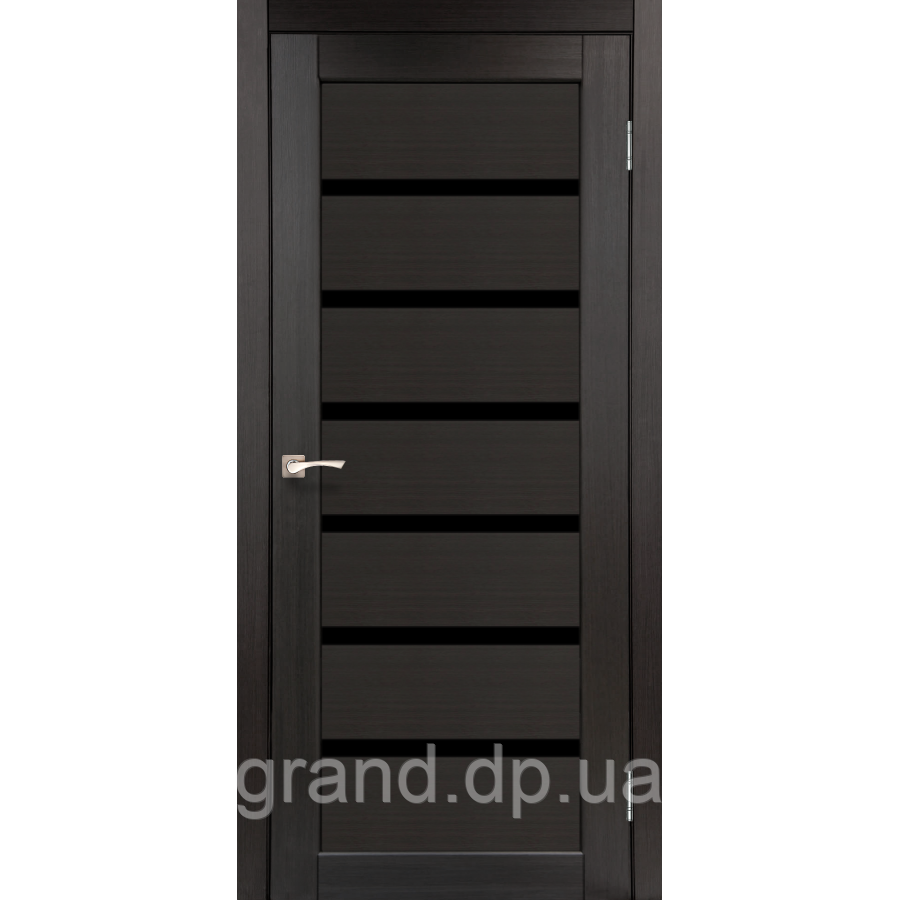 двери межкомнатные корфад Porto Deluxe модель Pd 01 венге с черным