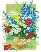 Схема для вишивки та вишивання бісером Бисерок «Букет польових квітів»  40x45 (ЧВ- 5dcd5fabfab0c