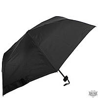 Черный мужской зонт компактный механический ZEST