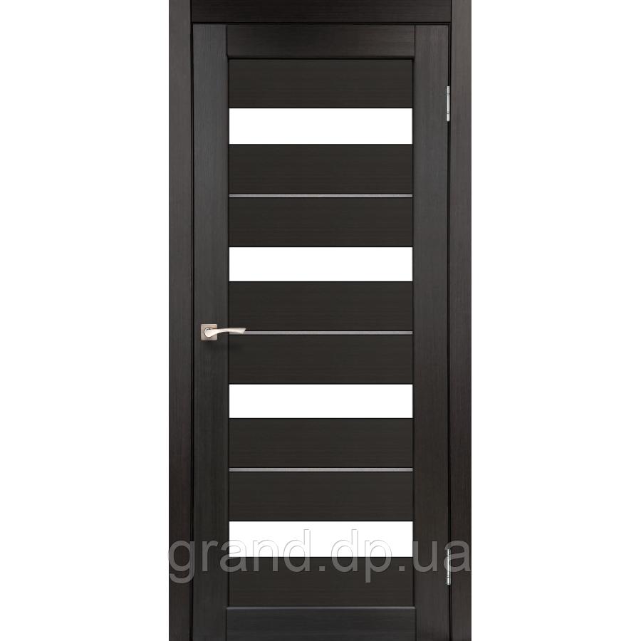 Двери межкомнатные  Корфад PORTO DELUXE Модель: PD-02 венге c матовым стеклом