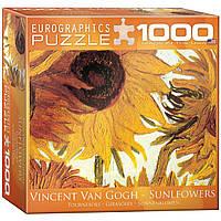 """Пазл """"Двенадцать подсолнухов"""" (фрагмент) Винсент ван Гог 1000 элементов EuroGraphics (8000-0477)"""