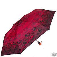 Зонт женский  AIRTON красный стильный полуавтомат