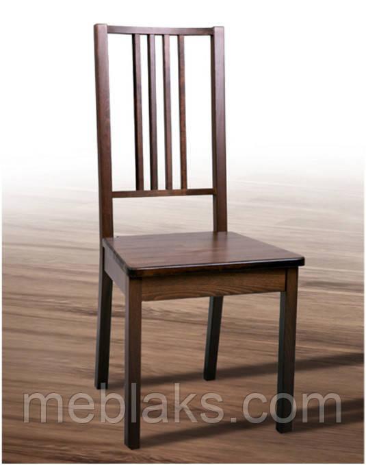 """Стул обеденный """"Бук"""" твердое сидение (коричневый, черный, прозрачный) для гостинной Fusion Furniture"""
