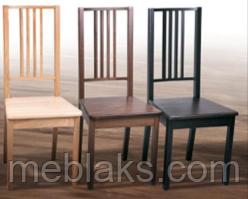 """Стул обеденный """"Бук"""" твердое сидение (коричневый, черный, прозрачный) для гостинной Fusion Furniture, фото 2"""