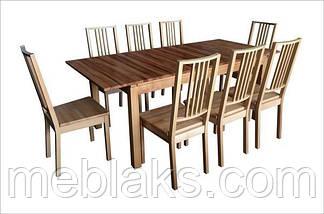 """Стул обеденный """"Бук"""" твердое сидение (коричневый, черный, прозрачный) для гостинной Fusion Furniture, фото 3"""