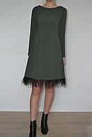 Платье  перья