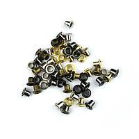 Люверсы Блочки для рукоделия 2,5мм разные цвета 25шт в наборе, фото 1