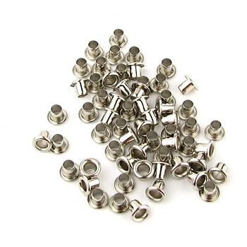 Люверсы Блочки для рукоделия 2,5мм серебро, 25шт в наборе