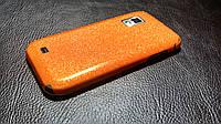 Декоративная защитная пленка для Samsung Galaxy S SCH-i500 оранжевый блеск, фото 1