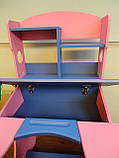 Детская парта трансформер Goodwin  KD-318 синий с розовым  киев, фото 4