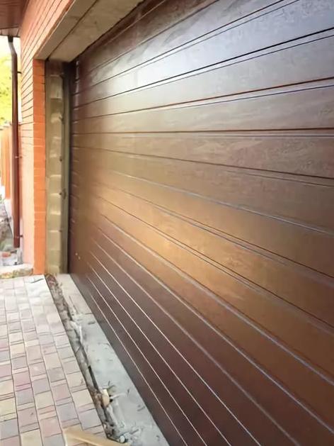 Секционные ворота alutech trend 5500 ш 3000 в