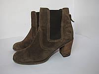 Leone_замша, Германия, стильные нарядные ботинки 39р ст.25,5см H94