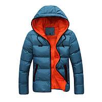 Молодежная зимняя куртка с капюшоном