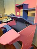Детская парта трансформер Goodwin  KD-318 синий с розовым  киев, фото 5