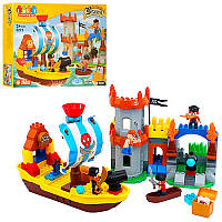 Конструктор JDLT 5271 пірати, замок, корабель, фігурки, 162 дет., кор., 64-48-11 см. (код 220-416765)