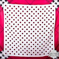 Платок красный женский шелковый 86*86 см ETERNO