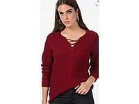 Свитер женский, молодежный, тренд этого сезона, свитер со шнурком. Разные цвета, размер единый 44-48.