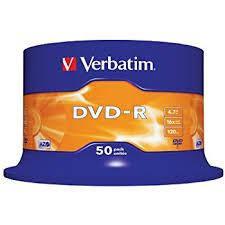 Диск Verbatim DVD-R 4.7GB 16x, Cake 50, SR-43548