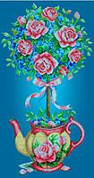 Схема для вишивки та вишивання бісером Бисерок «Топиарий з трояндами» (30x60) (П-201(10))