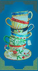 Схема для вишивки та вишивання бісером Бисерок «Чашки» (30x60) (П-202(10))