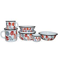 Набор детской эмалированной посуды Epos Cat 163