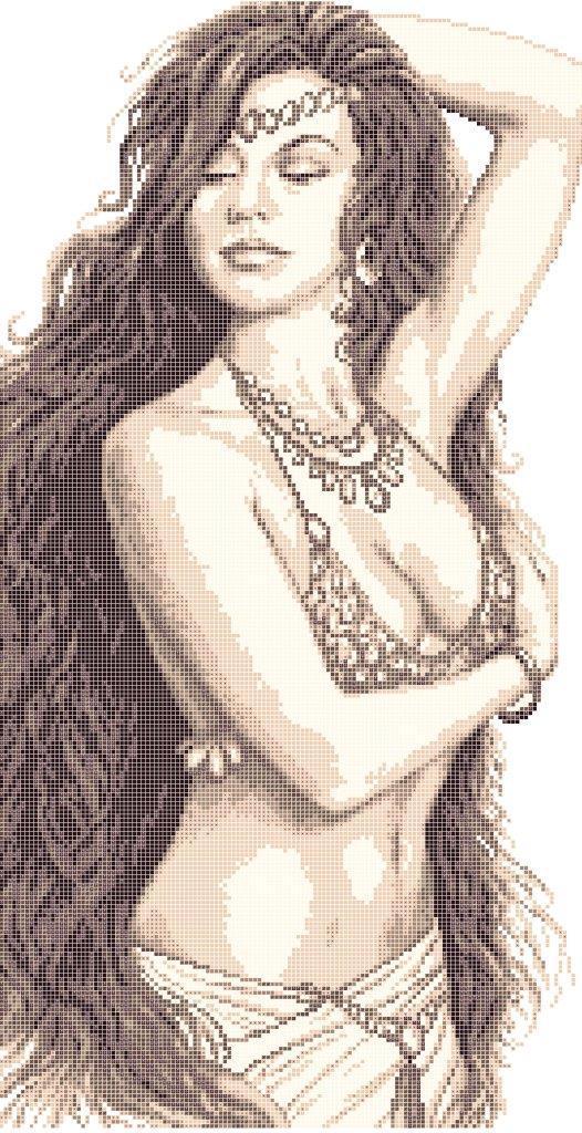 Схема для вишивки та вишивання бісером Бисерок «Дівчина танцівниця» (30x60) (П-211 (10))