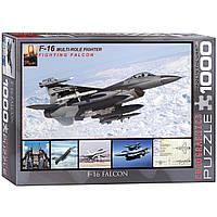 """Пазл """"F-16 в полете"""" 1000 элементов EuroGraphics (6000-4956), фото 1"""