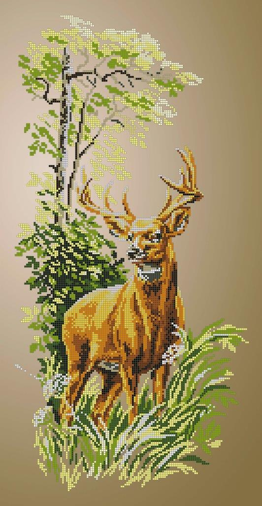 Схема для вишивки та вишивання бісером Бисерок «Олень» (30x60) (П-215 (10))