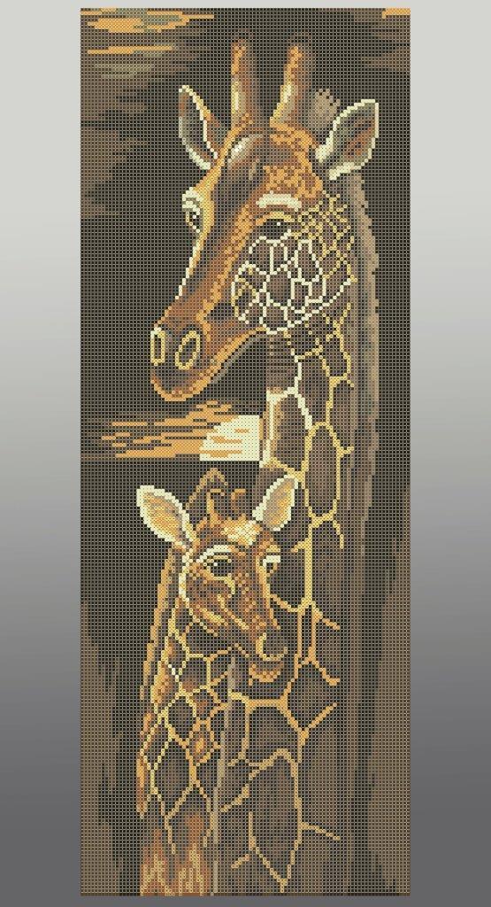 Схема для вишивки та вишивання бісером Бисерок «Жирафи» (30x60) (П-216 (10))