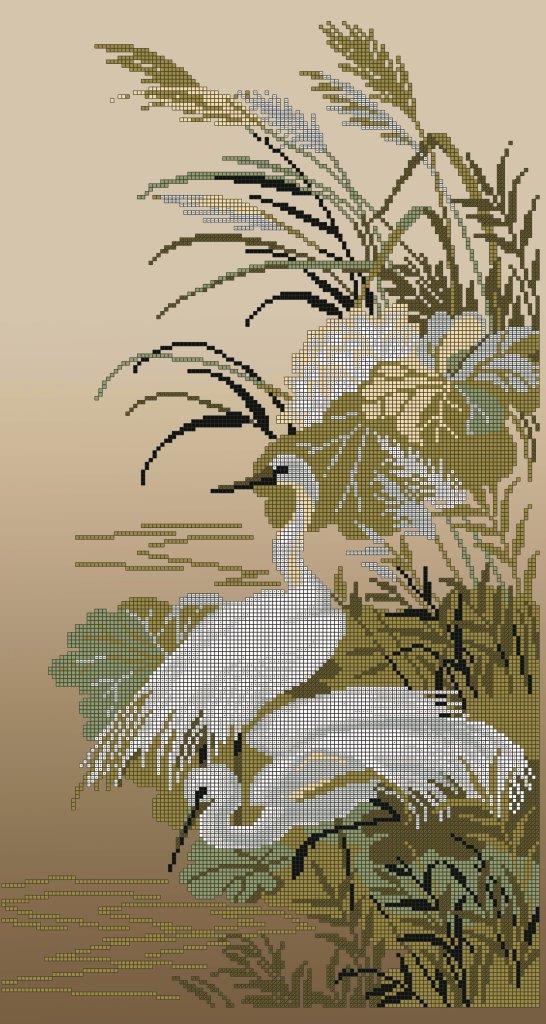 Схема для вишивки та вишивання бісером Бисерок «Чаплі» (30x60) (П-218 (10))