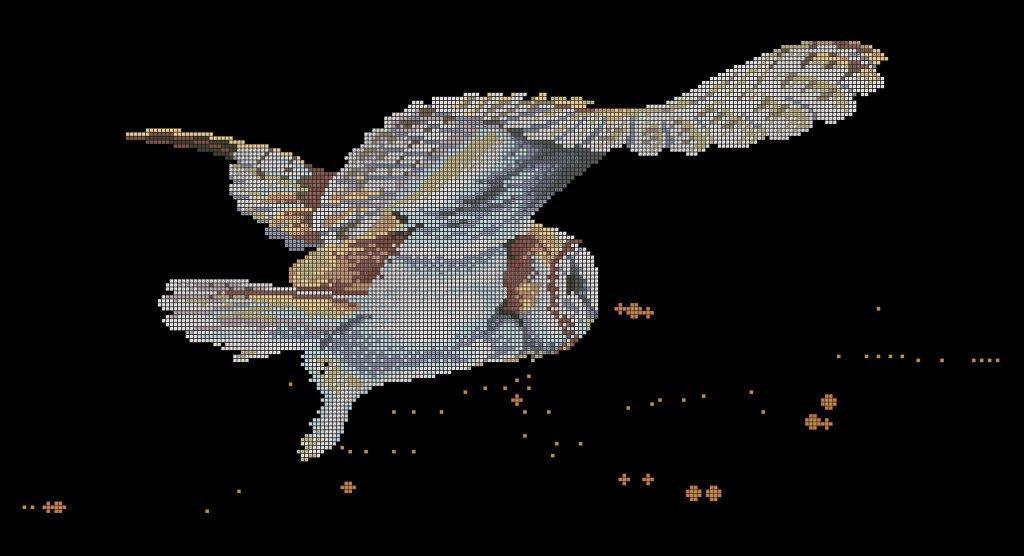 Схема для вишивки та вишивання бісером Бисерок «Сова в нічному небі» (30x60) (П-219 (10))
