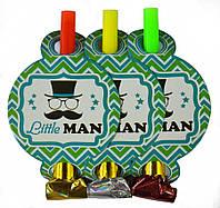 """Язычок-гудок """"Little Man"""" набор 6 шт"""
