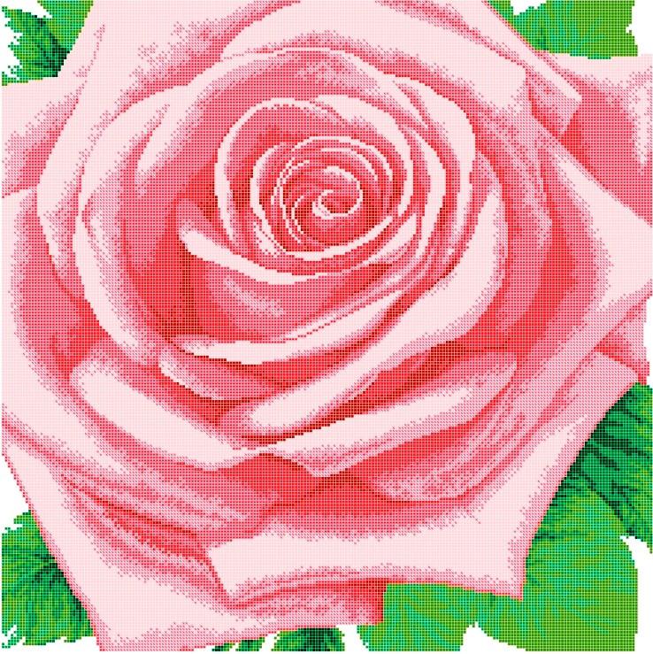 Схема для вишивки та вишивання бісером Бисерок «Королева цветов» (50х50) (ЧВ-650010)