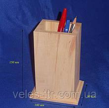 Подставка для карандашей и ручек 10х8х14 см Дерево заготовка для декора