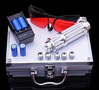 Лазерная указка синяя 50 000 mW мощный синий лазер B-017 в кейсе