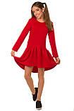 Яркое Осенне-весеннее платье из структурной плотной ткани для девочки 134-152р, фото 2